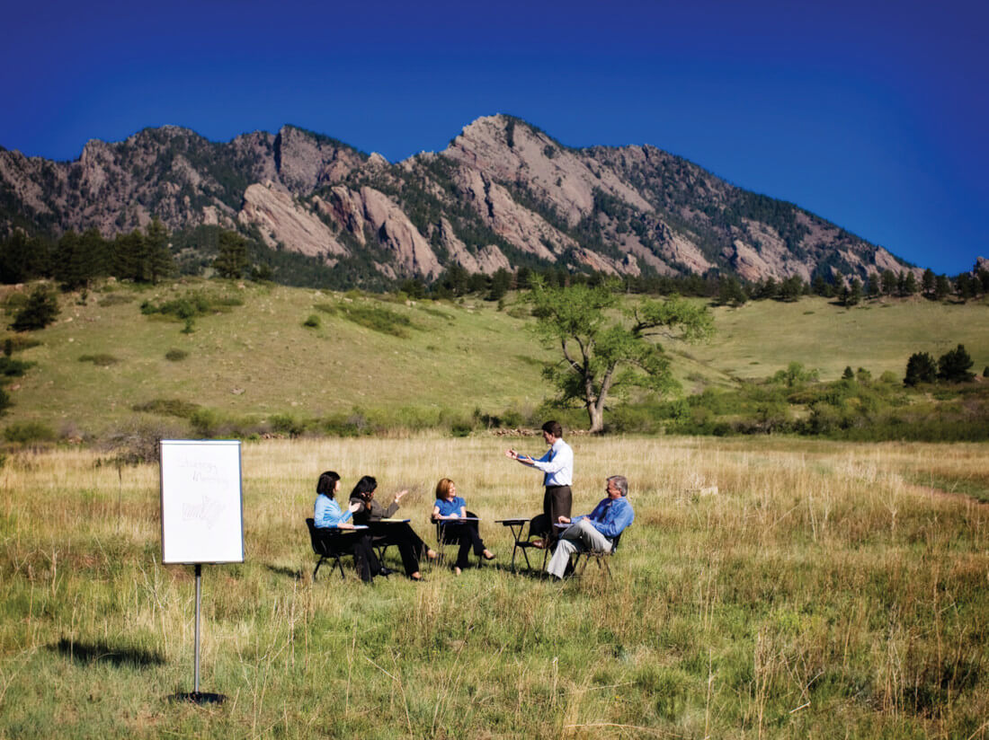 Outdoor meetings in the nature